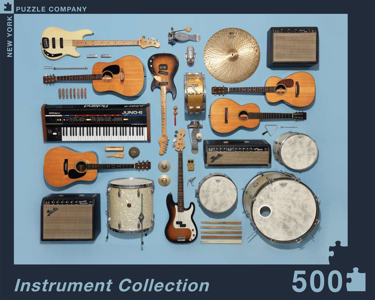 Musical Instruments - 500pc Jigsaw Puzzle by New York Puzzle Company