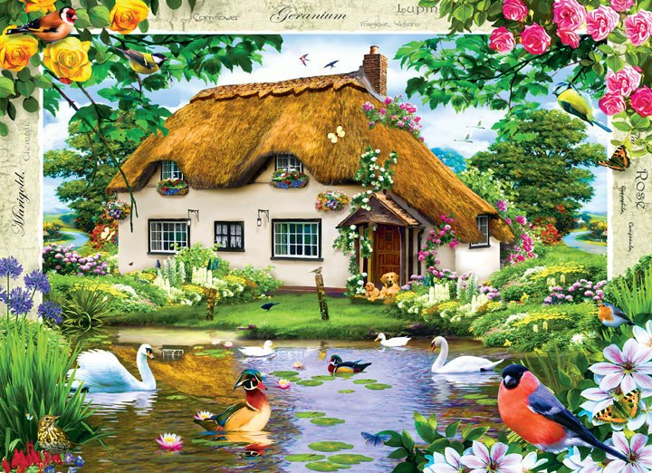 Swan Cottage - 1000pc Jigsaw Puzzle by Masterpieces