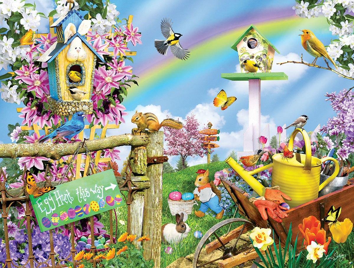 Spring Egg Hunt 300 - 300pc Jigsaw Puzzle By Sunsout  			  					NEW