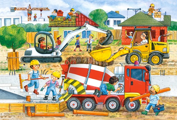 Construction Site - 40pc Jigsaw Puzzle By Castorland
