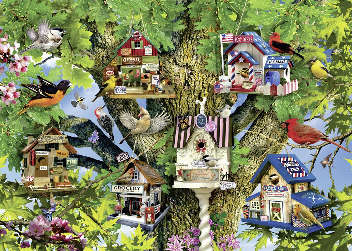 Bird Village - 1000pc Jigsaw Puzzle by Ravensburger