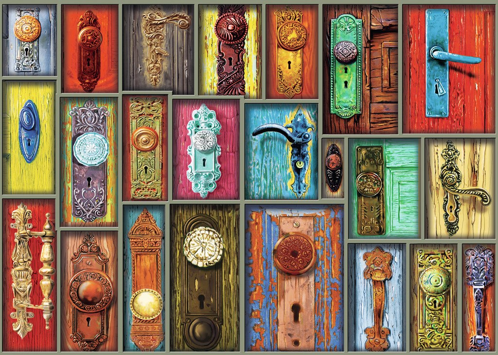 Antique Doorknobs - 1000pc Jigsaw Puzzle By Ravensburger  			  					NEW