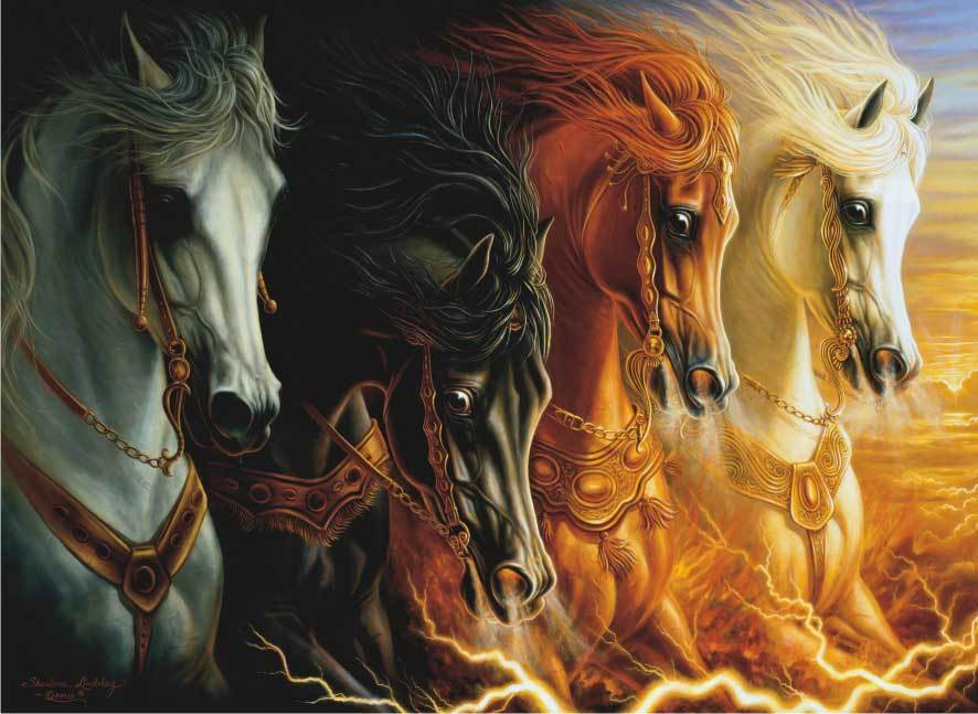 4 Horses of the Apocalypse - 1000pc Jigsaw Puzzle by Anatolian