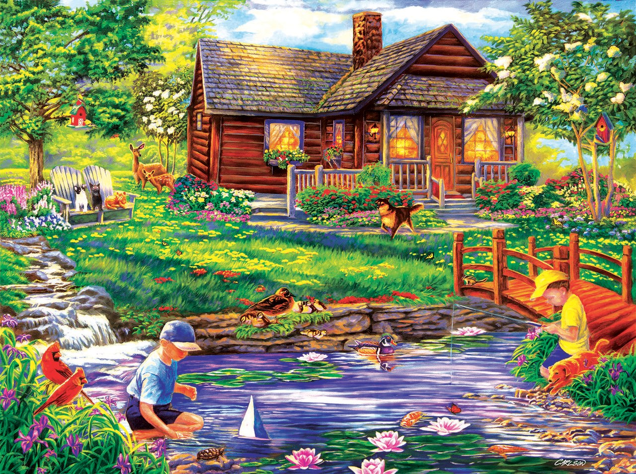 Summer Retreat - 1000pc Jigsaw Puzzle By Sunsout  			  					NEW