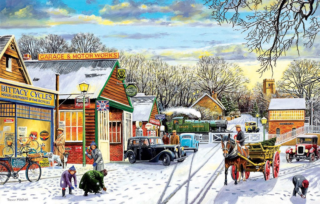 Winter Service - 1000pc Jigsaw Puzzle by Sunsout