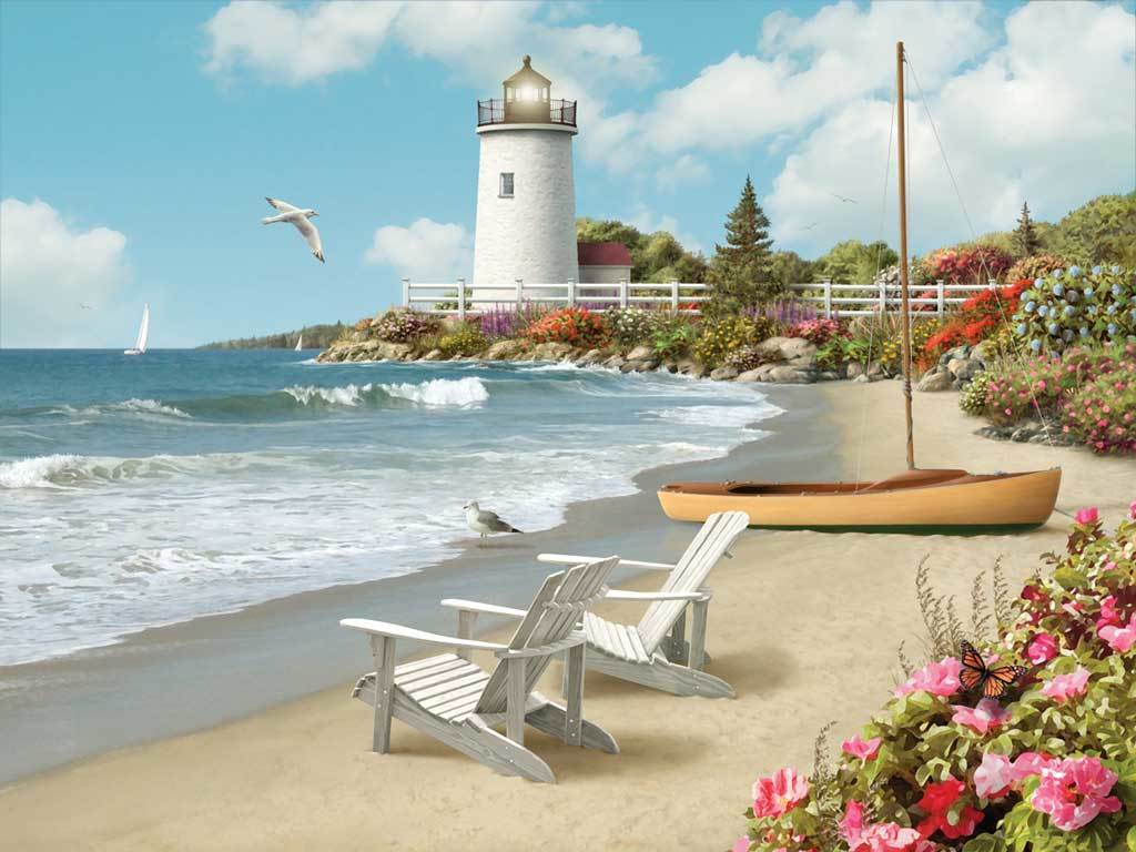 Sunlit Shores - 300pc Large Format Jigsaw Puzzle by Ravensburger