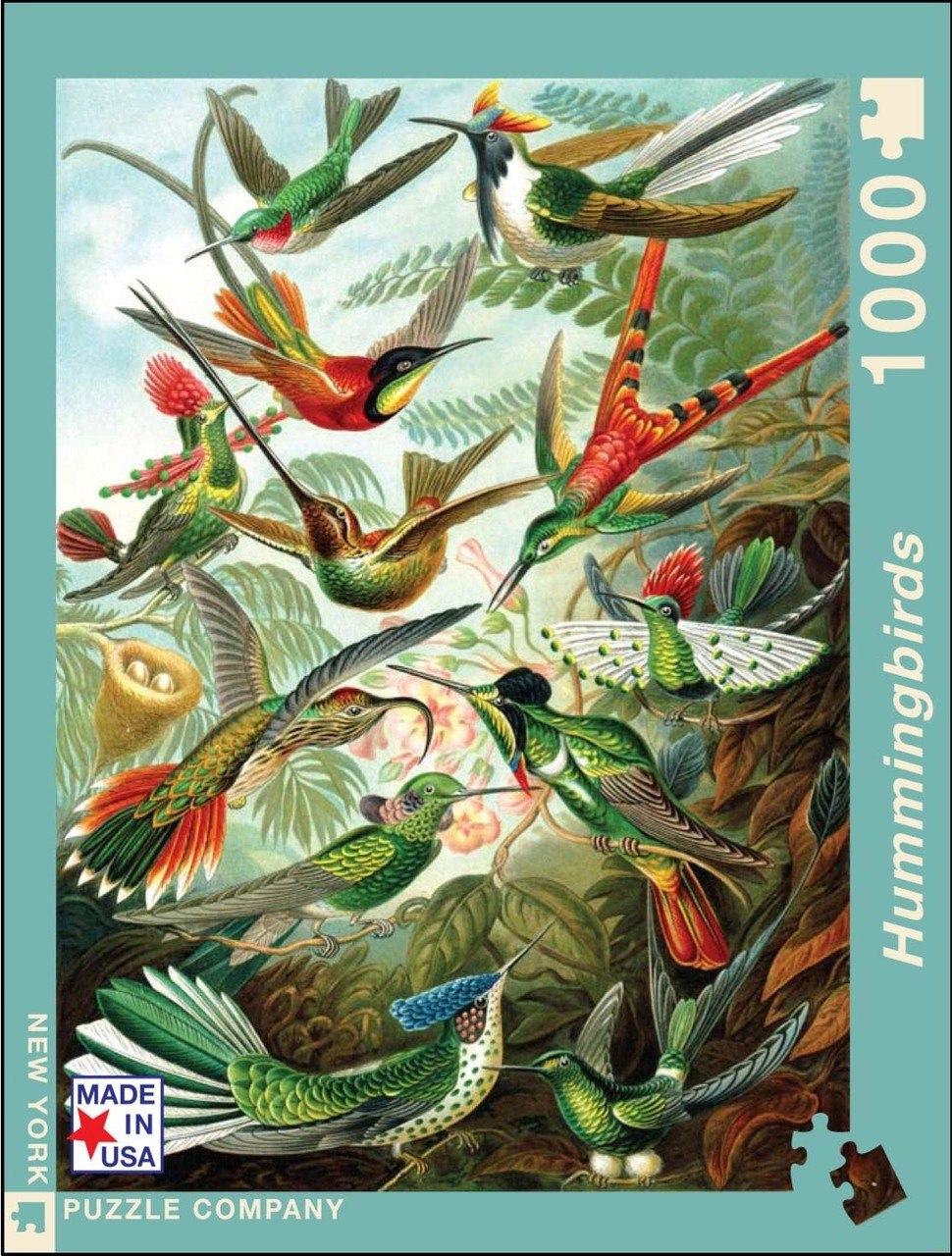 Hummingbirds - 1000pc Jigsaw Puzzle by New York Puzzle Company
