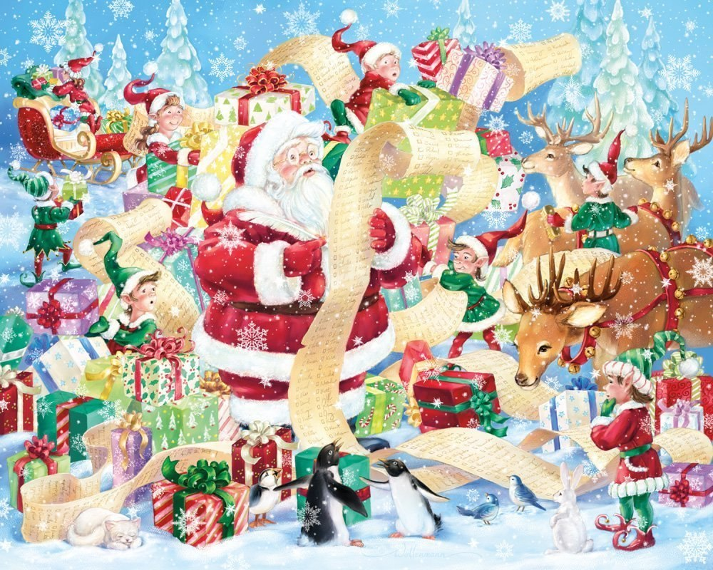Santa's List - 1000pc Jigsaw Puzzle By Vermont Christmas Company