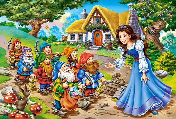 Snow White and the Seven Dwarfs - 40pc Jigsaw Puzzle By Castorland