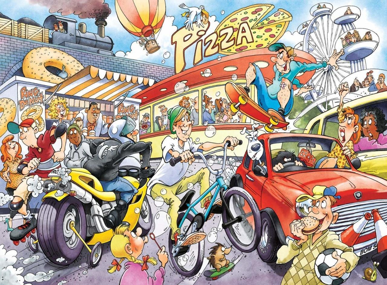WASGIJ: Imagine 2, If the Wheel Had Not Been Invented! - 1000pc Jigsaw Puzzle By Jumbo  			  					NEW