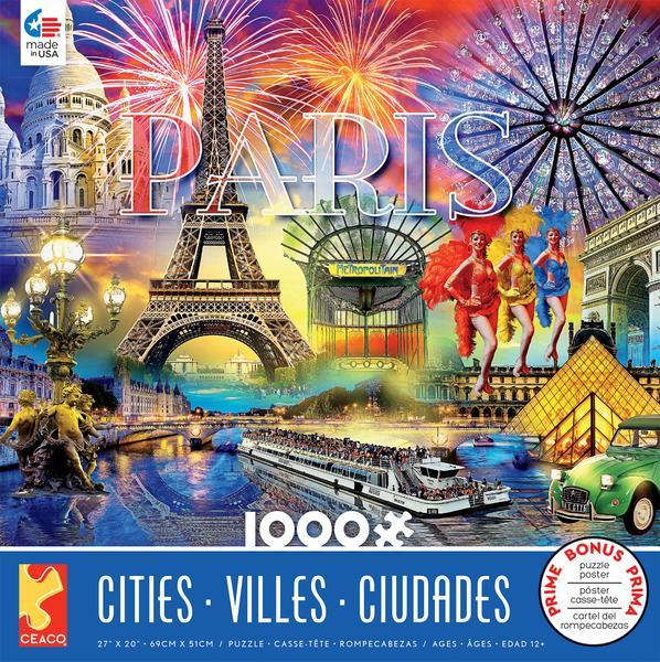 Cities: Paris - 1000pc Jigsaw Puzzle by Ceaco  			  					NEW