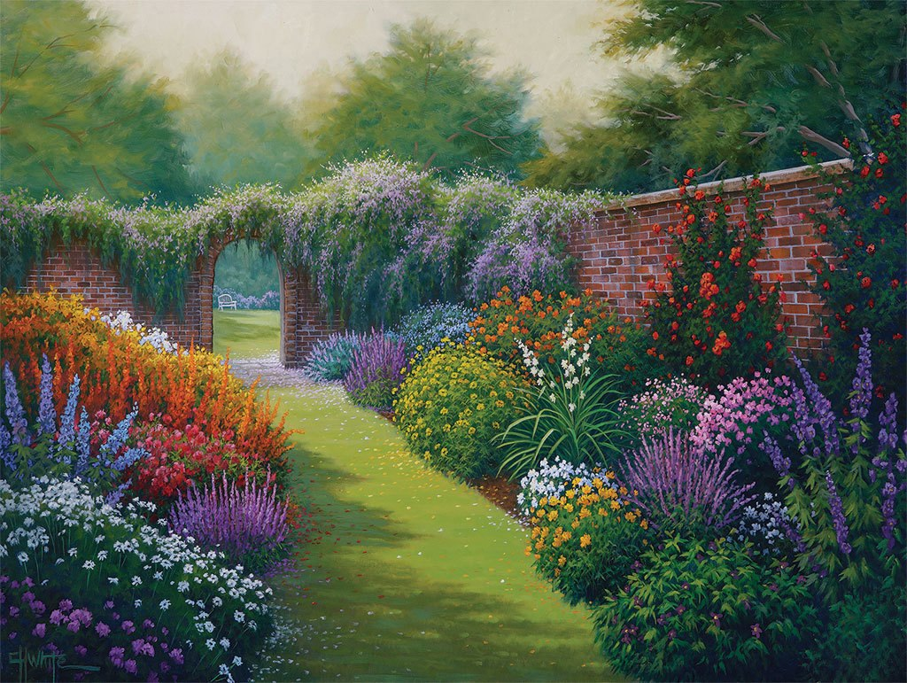 Secret Garden - 1000pc Jigsaw Puzzle By White Mountain