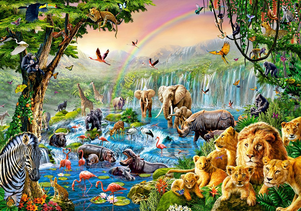 Jungle River - 500pc Jigsaw Puzzle By Castorland