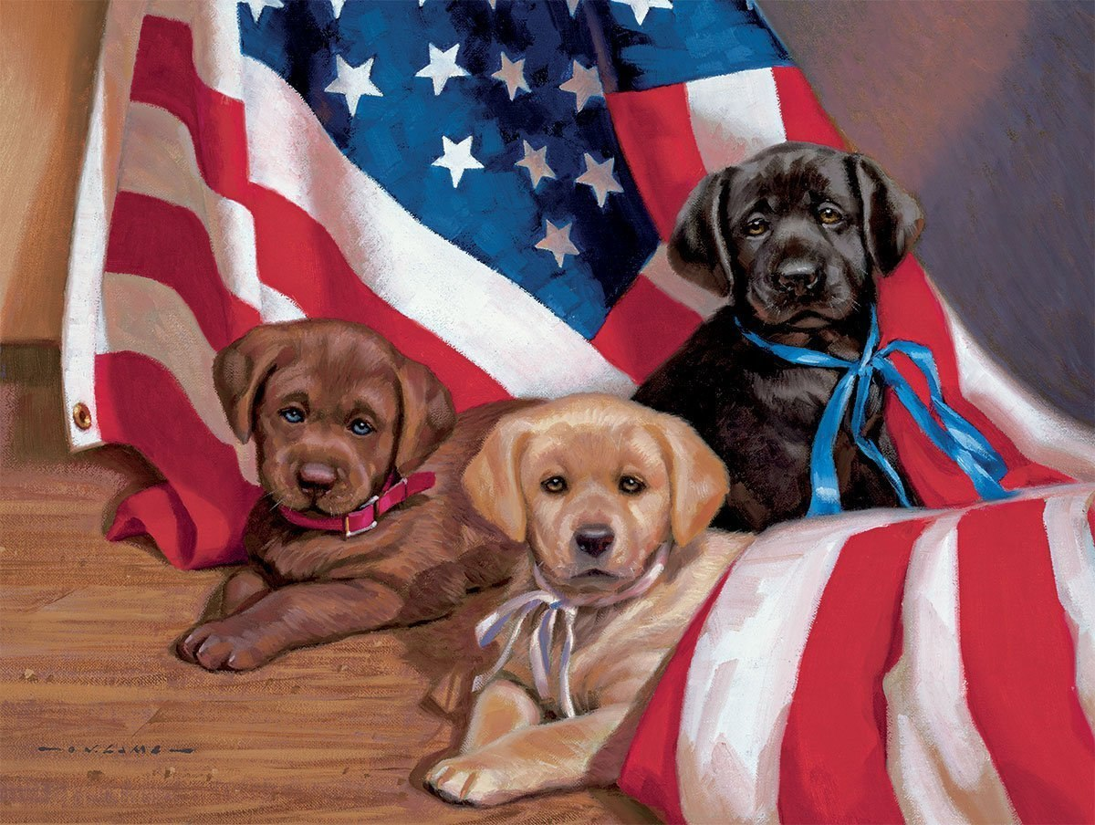 American Puppy - 500pc Jigsaw Puzzle by Lang  			  					NEW