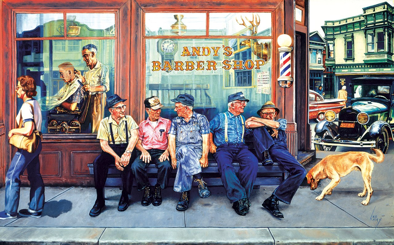 Andy's Barber Shop - 300pc Jigsaw Puzzle by Sunsout  			  					NEW