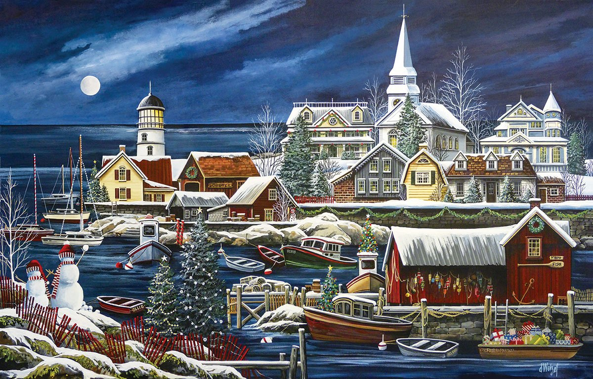 Winter Harbor - 1000pc Jigsaw Puzzle By Sunsout  			  					NEW