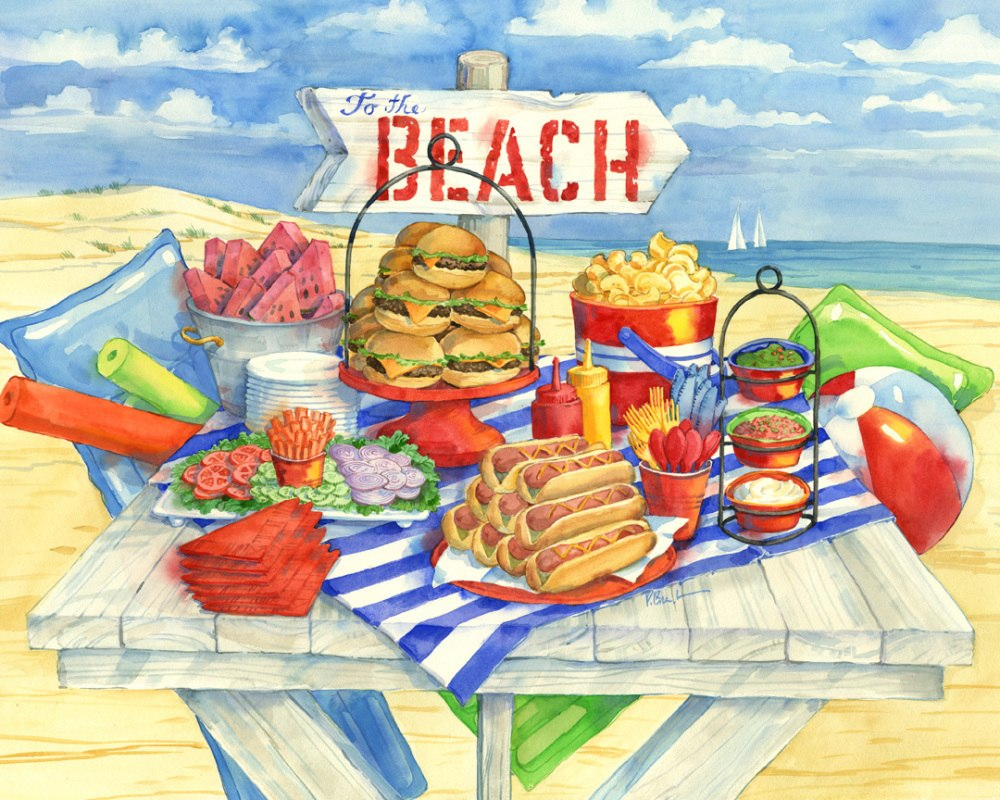 Picnic at the Beach - 1000pc Jigsaw Puzzle by Vermont Christmas Company