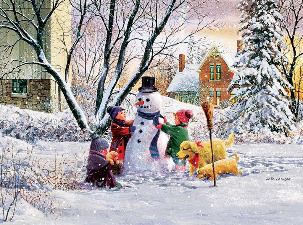 Snowman and Friends - 1000pc Jigsaw Puzzle by SunsOut