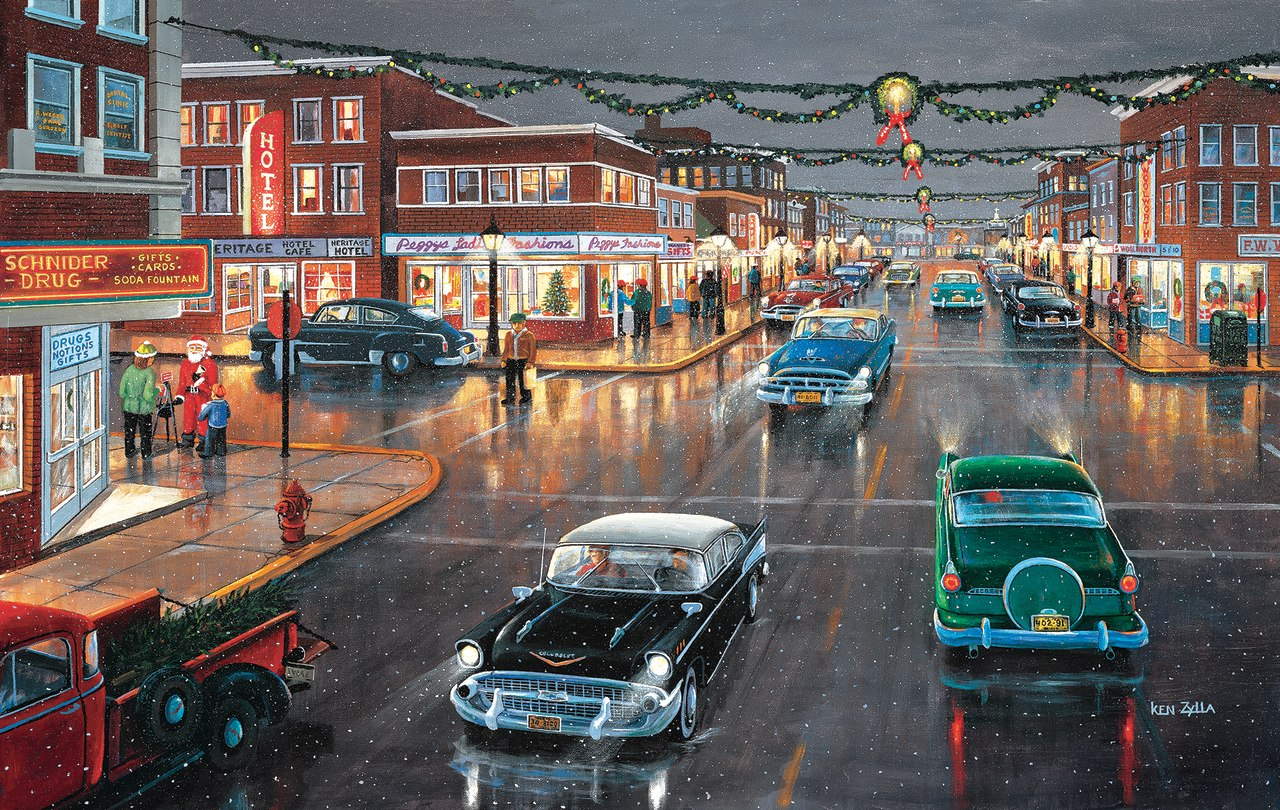 Main Street 'Tis the Season - 1000pc Jigsaw Puzzle by Sunsout  			  					NEW