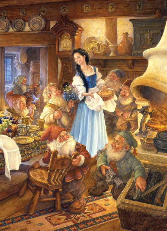 Snow White and the Seven Dwarfs - 1000pc Jigsaw Puzzle by Masterpieces