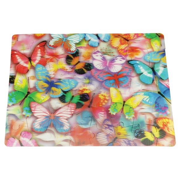 3D Puzzle: Butterflies - 48pc Lenticular Jigsaw Puzzle  			  					NEW - image 2