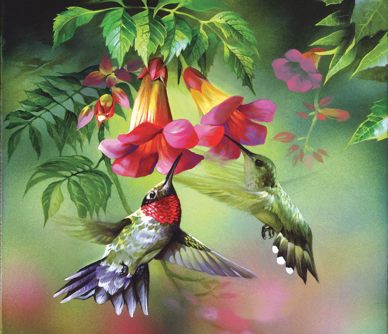 Hummingbirds - 25pc Jigsaw Puzzle by Sunsout  			  					NEW