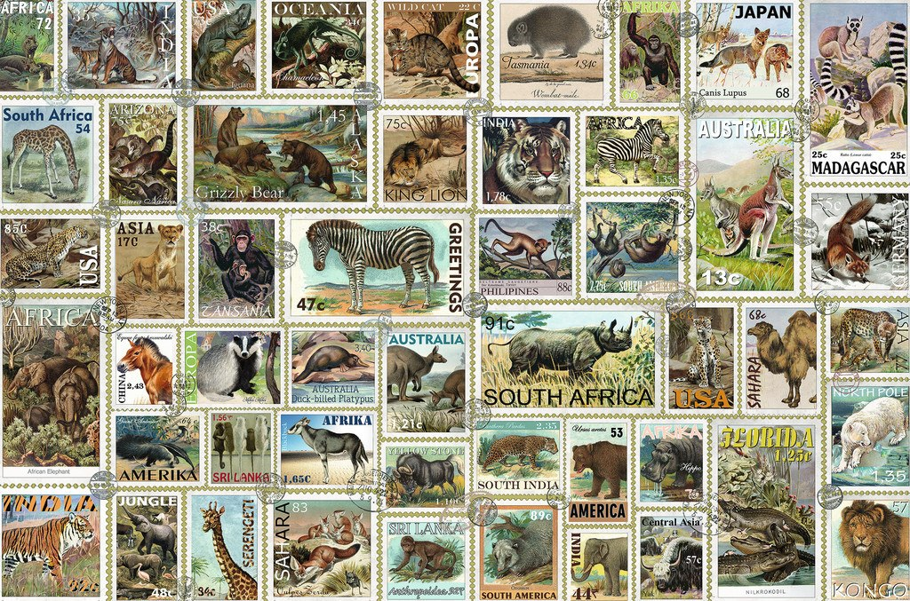 Animal Stamps - 3000pc Jigsaw Puzzle By Ravensburger  			  					NEW
