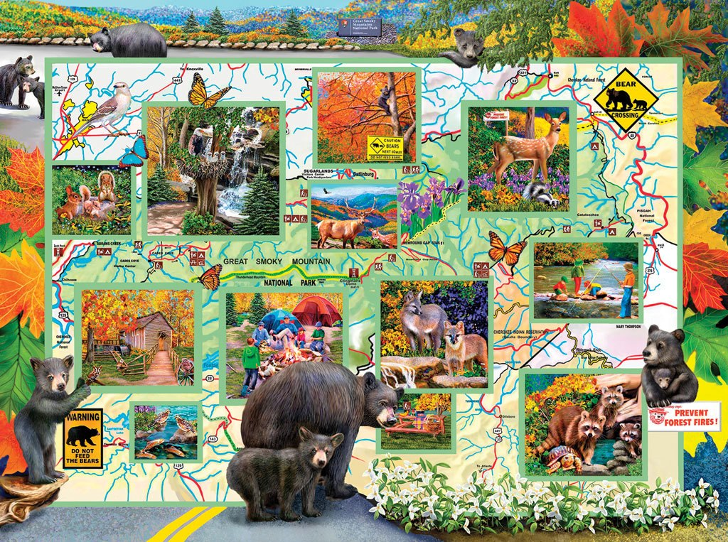 Bears on the Road - 1000pc Jigsaw Puzzle by SunsOut