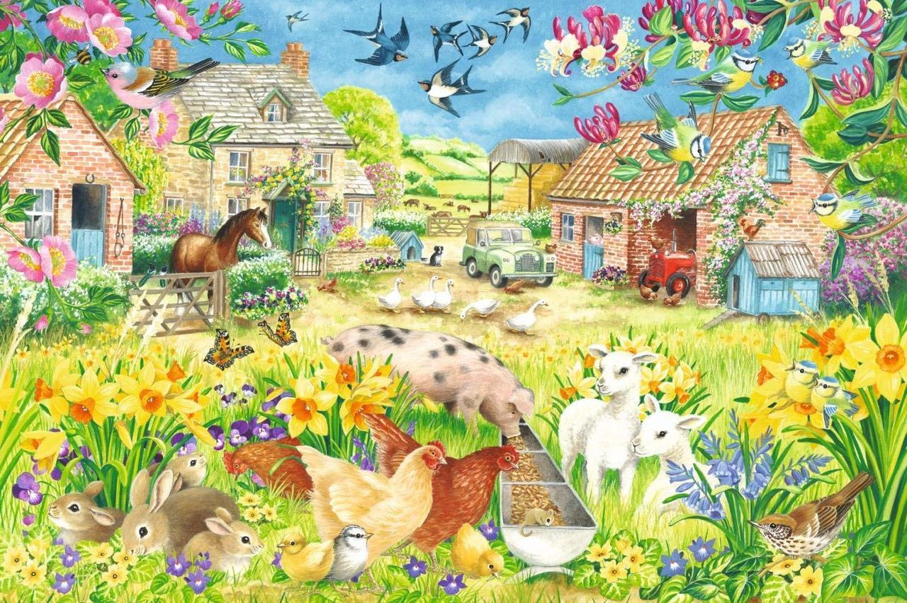 Lambing Season - 1500pc Jigsaw Puzzle By Falcon  			  					NEW