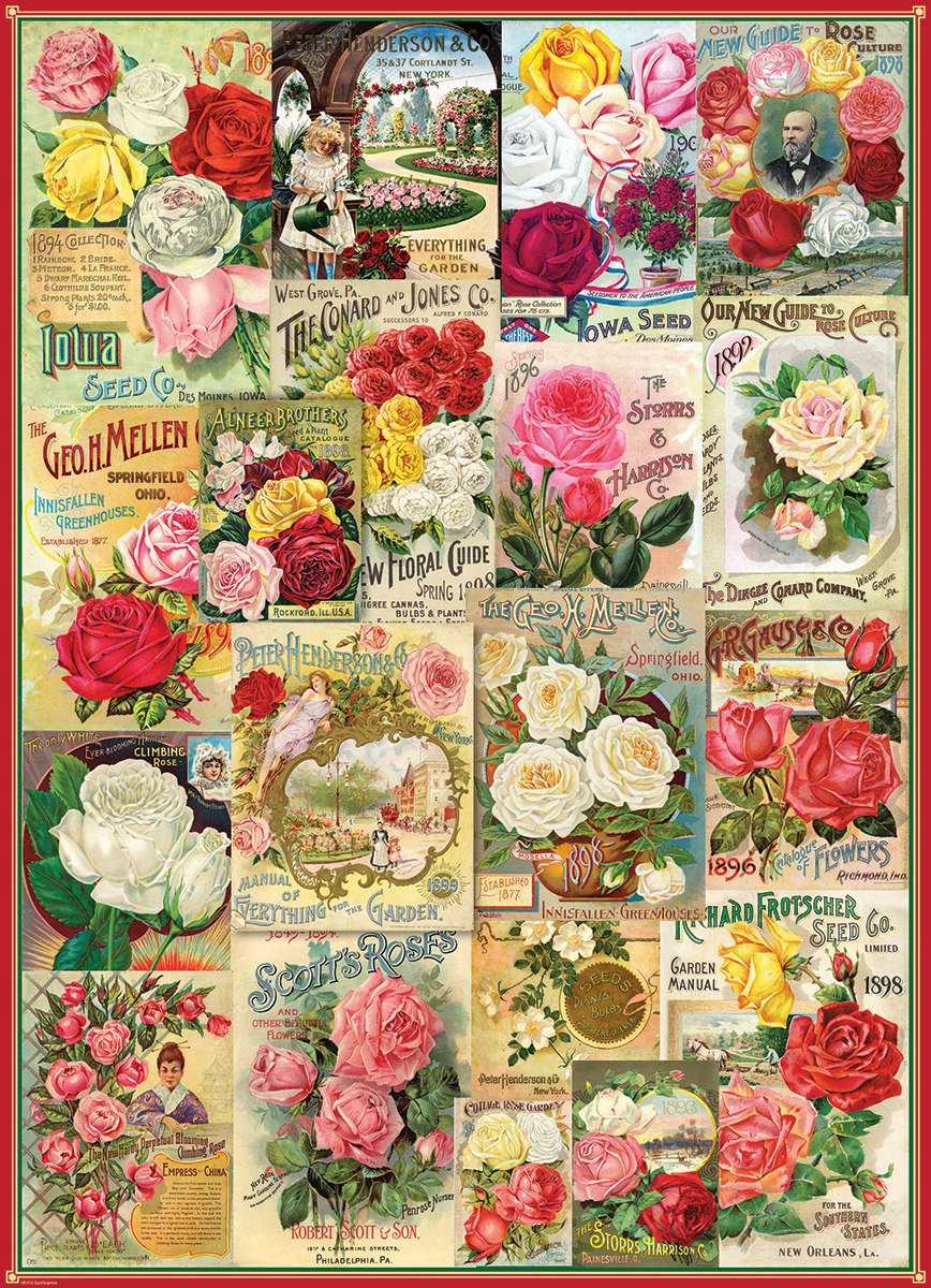 Seed Catalog: Smithsonian, Roses - 1000pc Jigsaw Puzzle by Eurographics