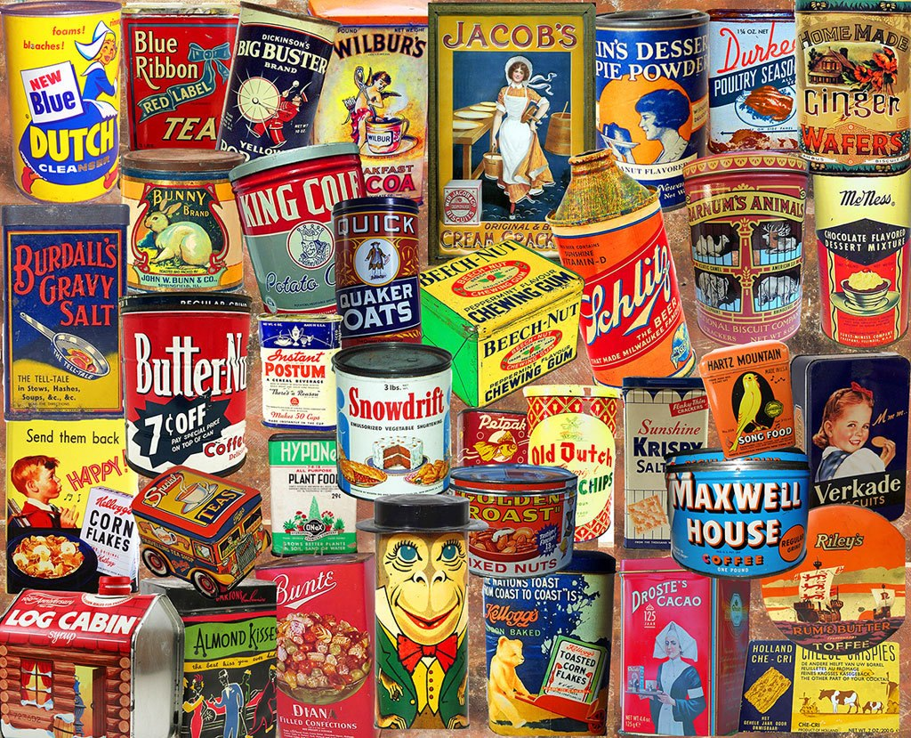 Vintage Tins  - 1000pc Jigsaw Puzzle by White Mountain