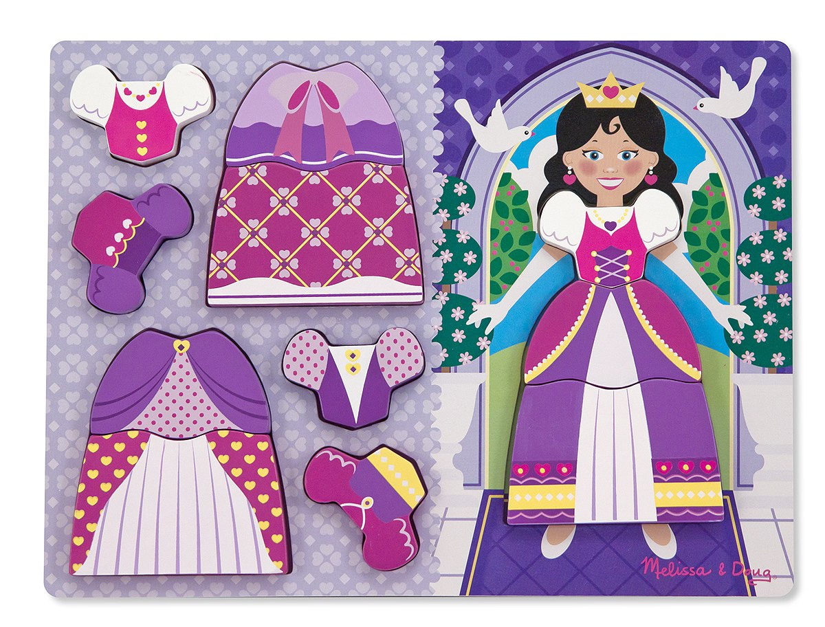 Princess Dress-Up - Chunky Wood Puzzle By Melissa & Doug