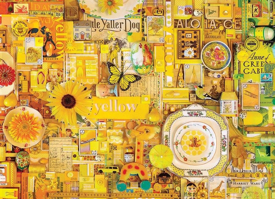 Rainbow Project: Yellow - 1000pc Jigsaw Puzzle by Cobble Hill