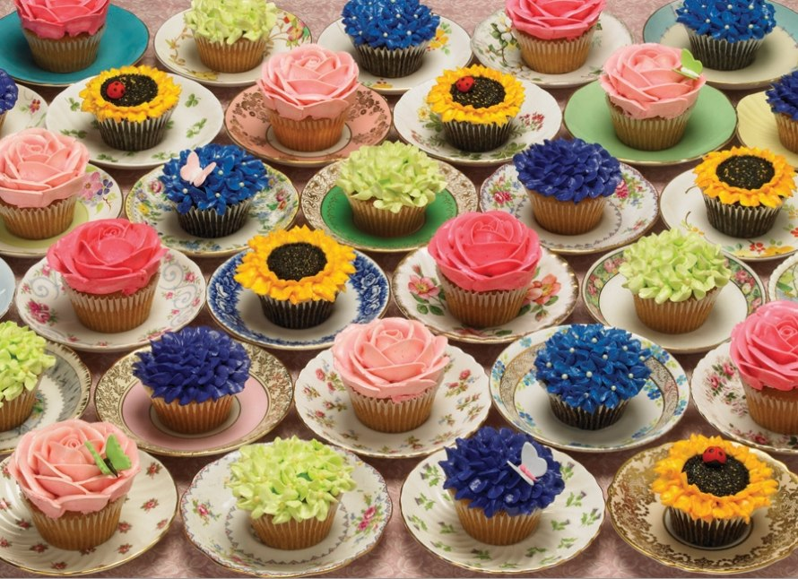 Cupcakes and Saucers - 1000pc Jigsaw Puzzle By Cobble Hill  			  					NEW