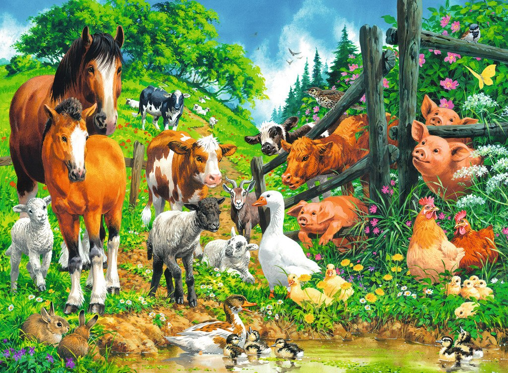 Animals Get Together - 100pc Jigsaw Puzzle By Ravensburger  			  					NEW