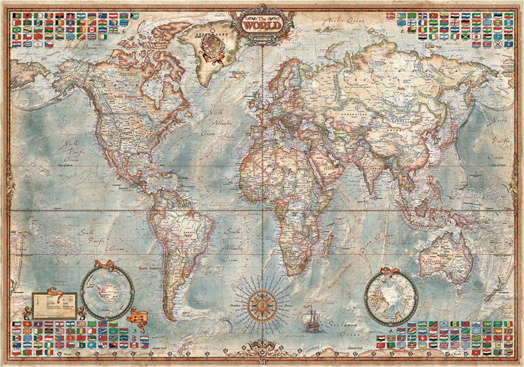 The World Executive Map - 4000pc Jigsaw Puzzle By Educa