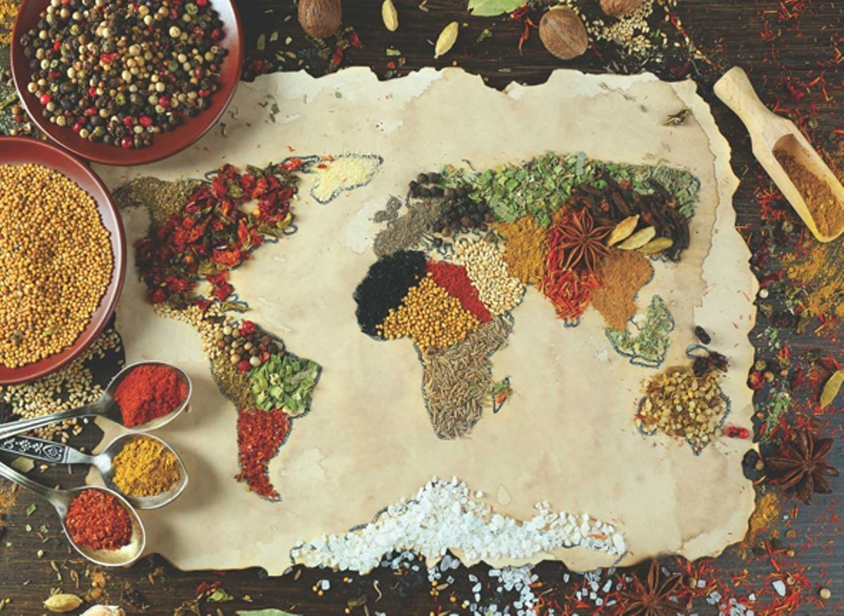 Herbal World Map - 1000pc Jigsaw Puzzle by Anatolian  			  					NEW