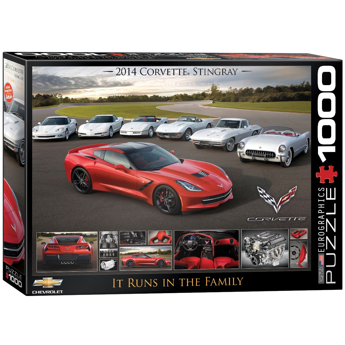 2014 Corvette Stingray: It Runs in the Family - 1000pc Jigsaw Puzzle by Eurographics