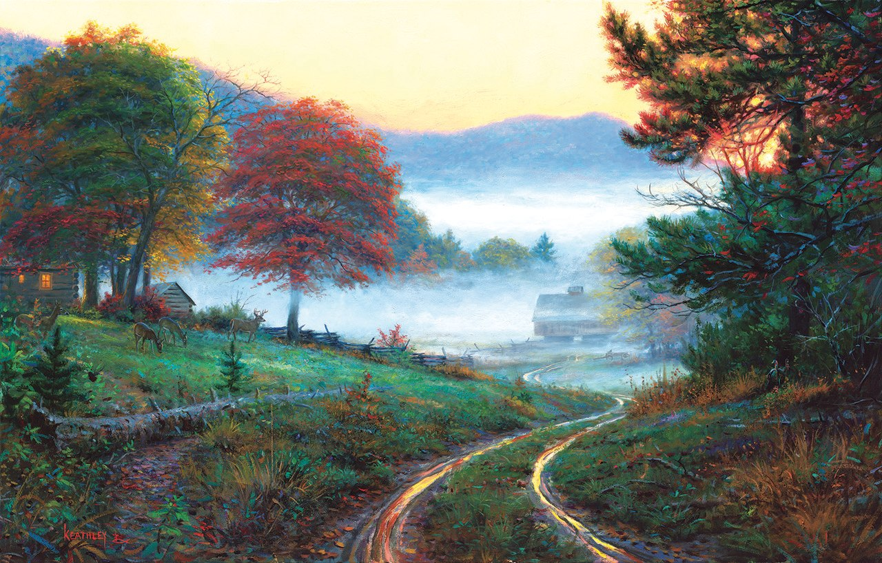 Morning at Cades Cove - 300pc Jigsaw Puzzle by Sunsout  			  					NEW