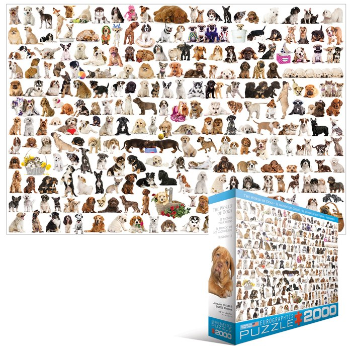 The World of Dogs- 2000pc Jigsaw Puzzle by Eurographics