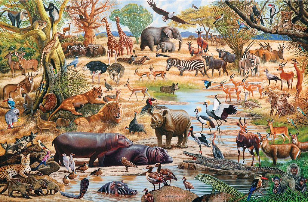 African Paradise - 1500pc Jigsaw Puzzle by Tomax - image main