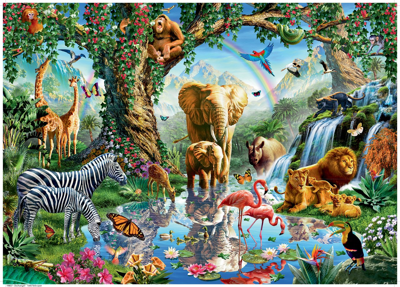 Adventures in the Jungle - 1000pc Jigsaw Puzzle By Ravensburger  			  					NEW