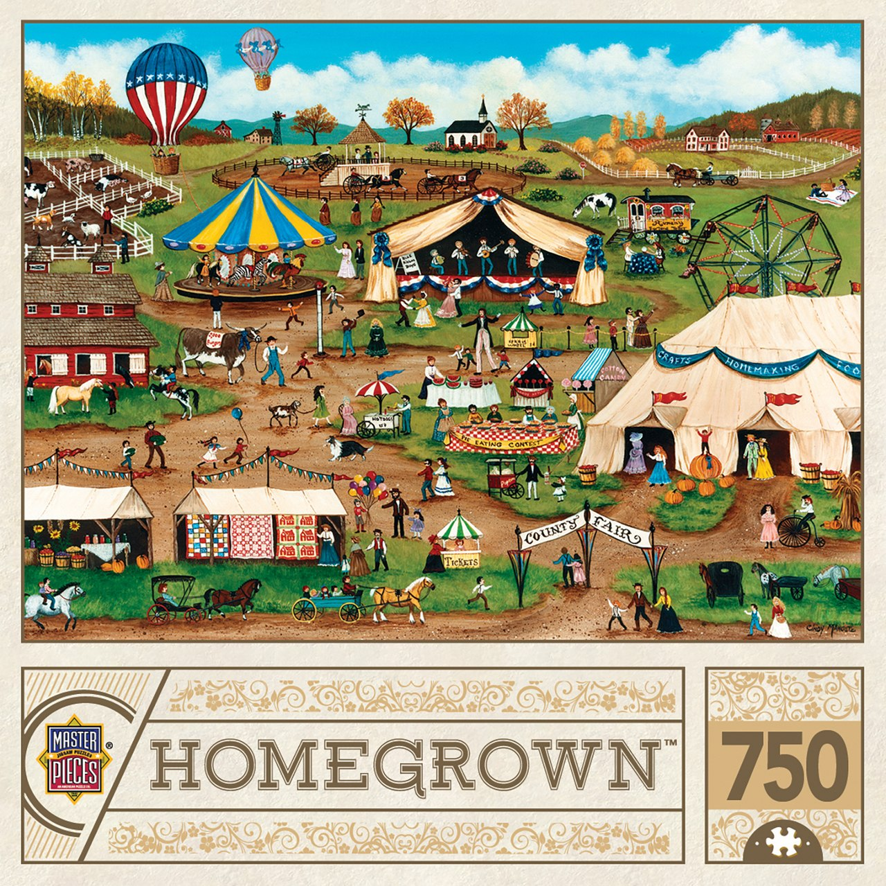 Country Fair - 750pc Jigsaw Puzzle by Masterpieces  			  					NEW - image 1