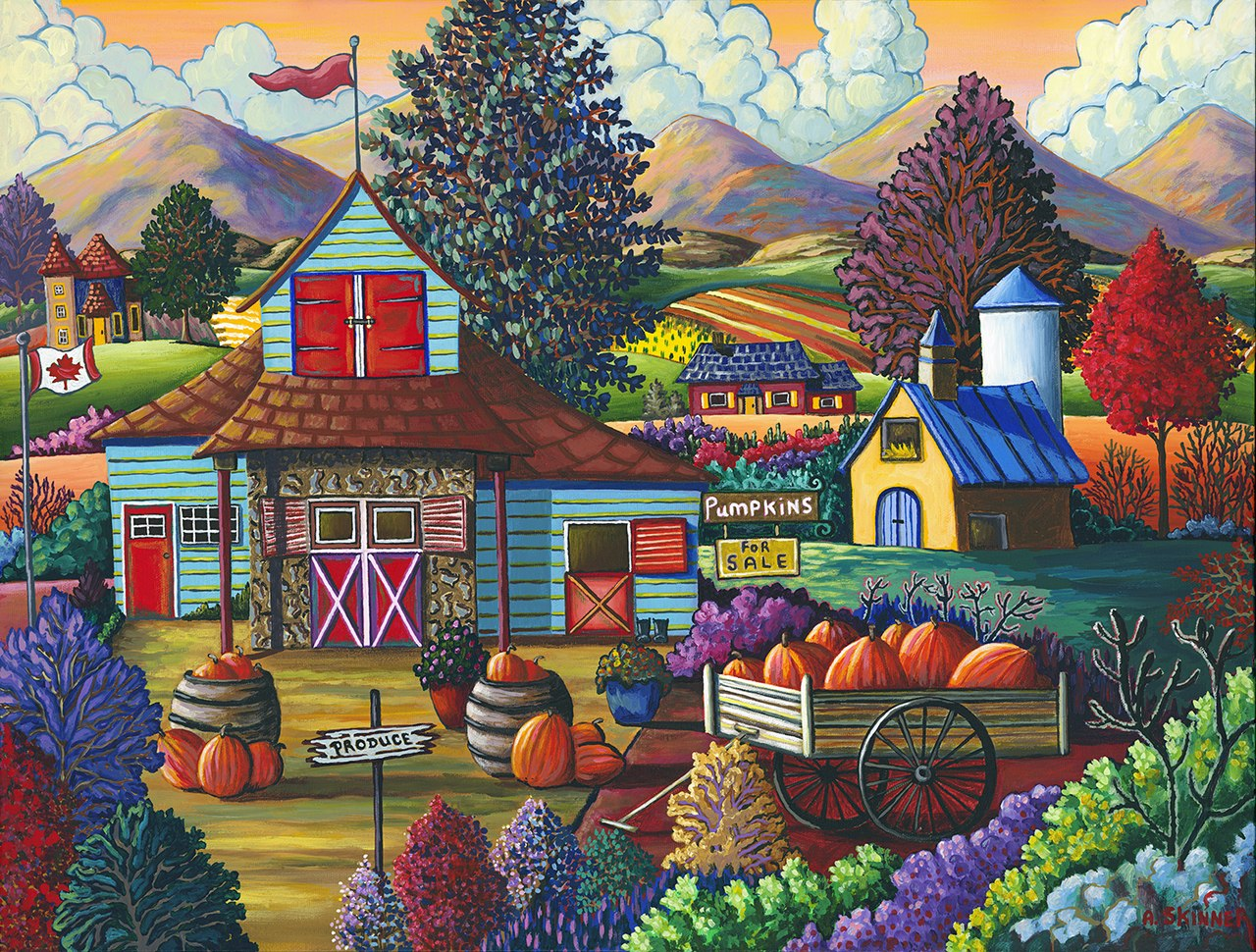 Skinner: Country Pumpkins for Sale - 750pc Jigsaw Puzzle By Standout Puzzles  			  					NEW