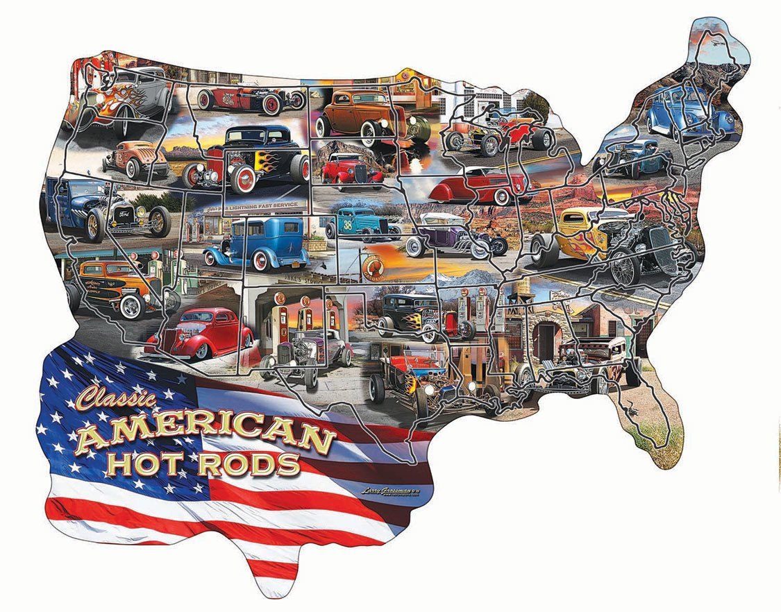 Hot Rod USA! - 600pc Jigsaw Puzzle by SunsOut