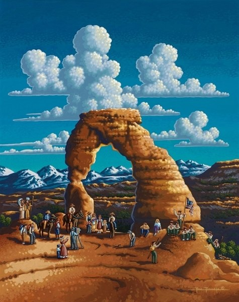 Delicate Arch  - 500pc Jigsaw Puzzle by Dowdle