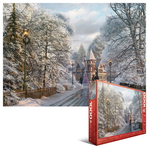 New England Christmas Stroll - 1000pc Jigsaw Puzzle by Eurographics