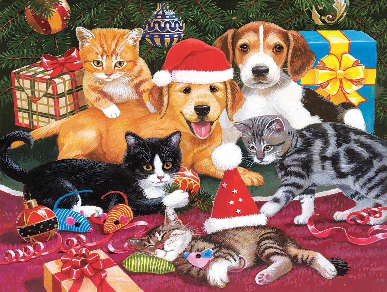 Christmas Meeting - 300pc Jigsaw Puzzle by Sunsout  			  					NEW
