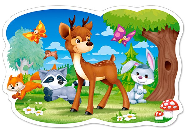 A Deer and Friends - 12pc Jigsaw Puzzle By Castorland