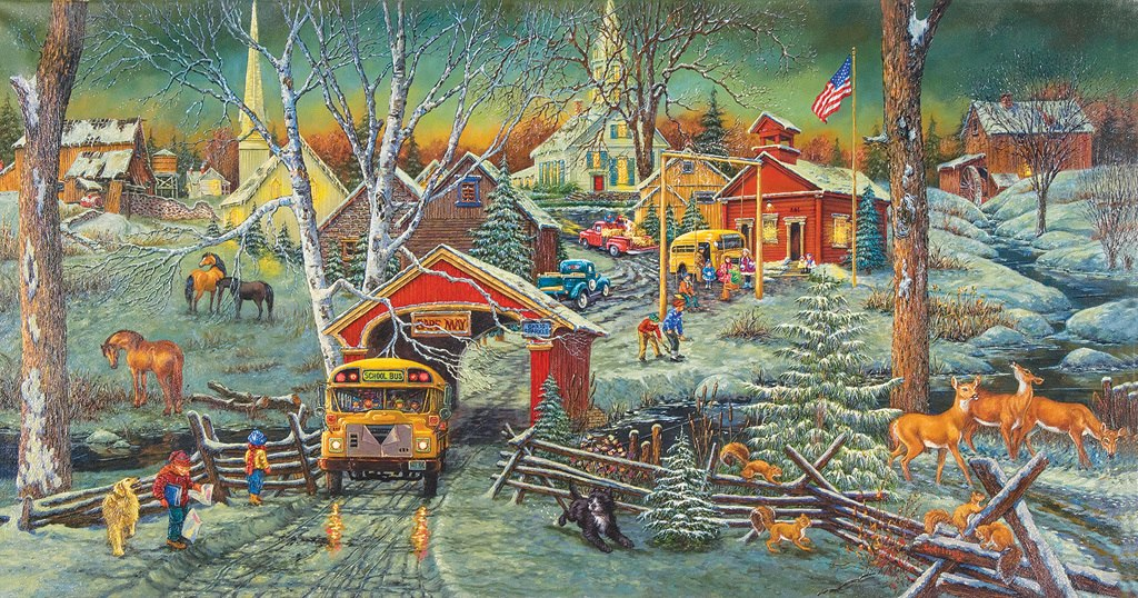 Snow Days - 500pc Jigsaw Puzzle by SunsOut